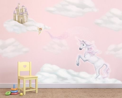 unicorn wallpaper mural