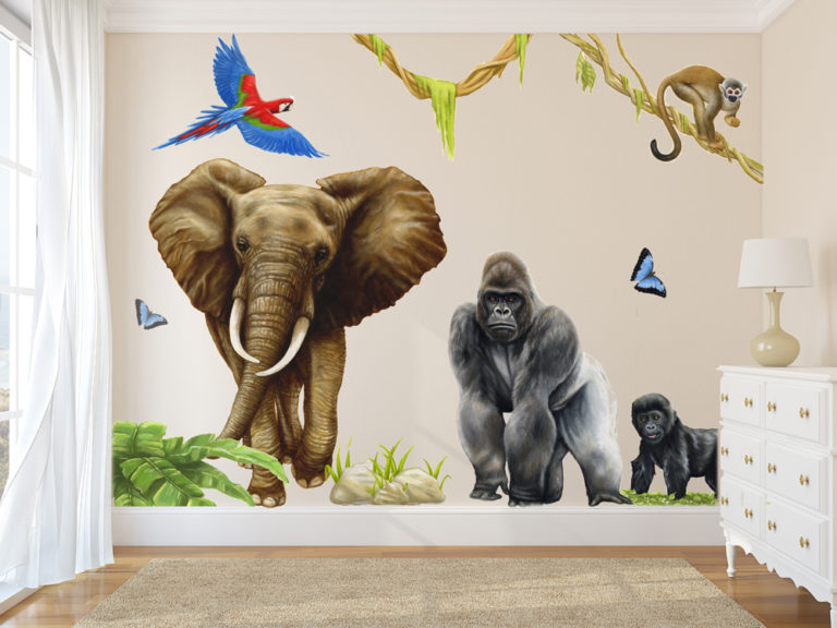 JUNGLE WALL DECALS WALL MURALS