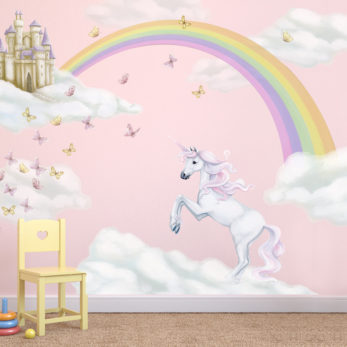 Unicorn Rainbow Wall Decal