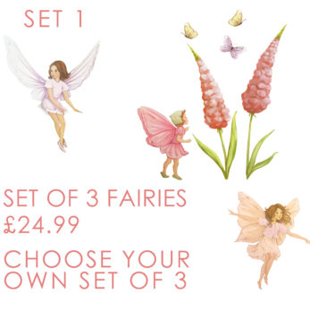 3 sets of fairies