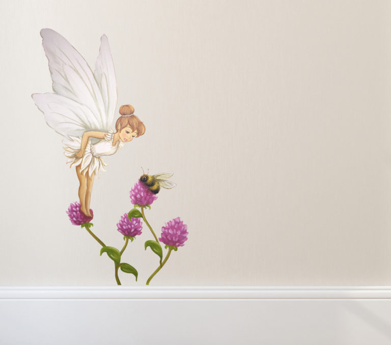 fairy wall sticker - violet