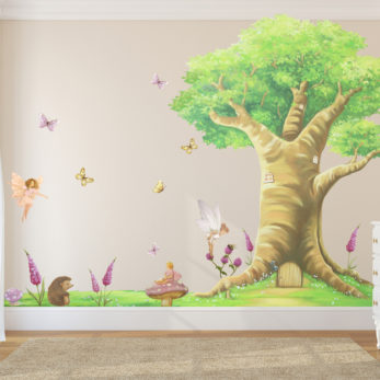 FULL WALL MAGICAL FAIRY TREE SET WALL STICKERS