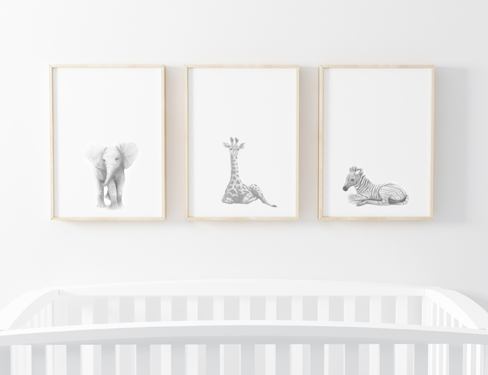 SAFARI ART PRINTS SET OF 3