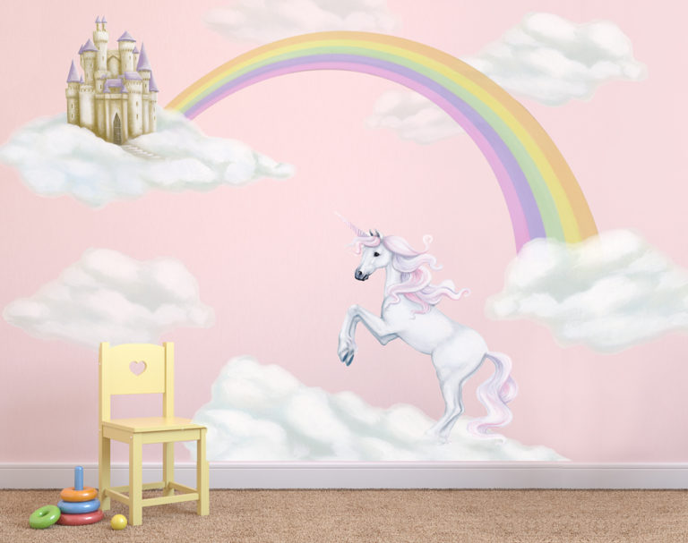 Unicorn & Rainbow Wall Decal