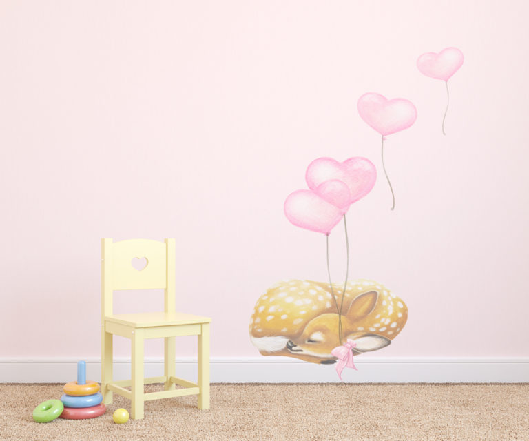 baby deer wall stickers