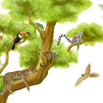 jungle animal decals