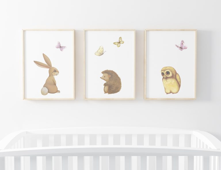 woodland art prints