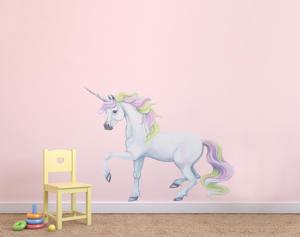 Rainbow Unicorn Wall Decals Wall Stickers Room Sets