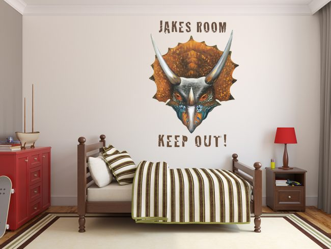 triceratops wall sticker