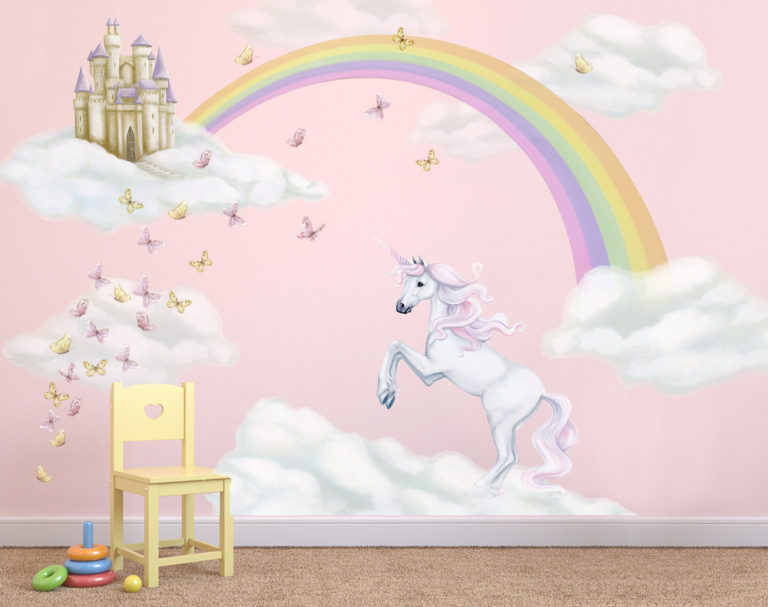 Unicorn Rainbow Wall Decal
