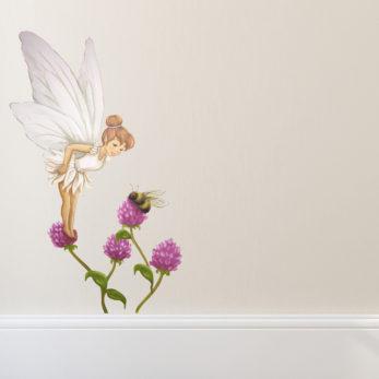fairy wall sticker - violet