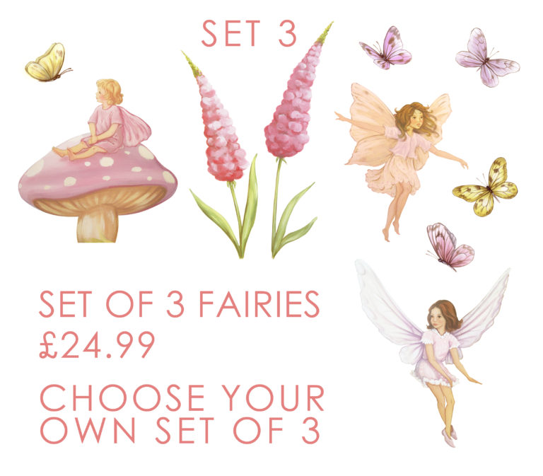fairies, fairy decals, fairy wall stickers