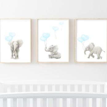 ELEPHANT ART PRINTS SET