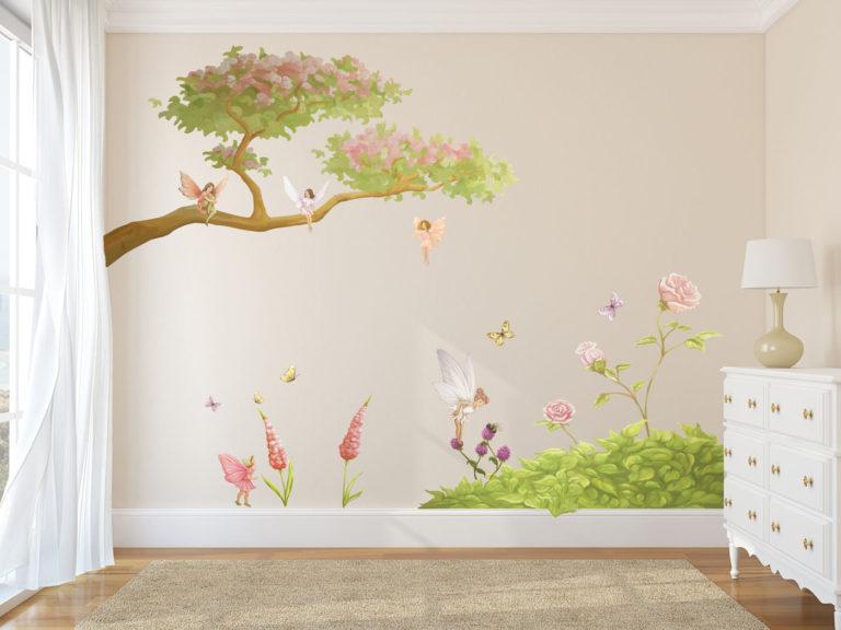 fairy & flowers wall set