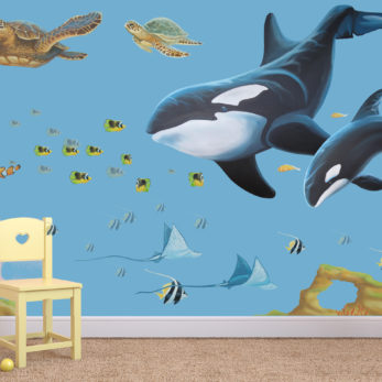 under the sea whale set
