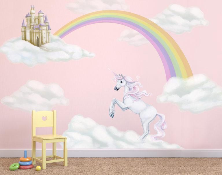 Unicorn & Rainbow Wall Decal