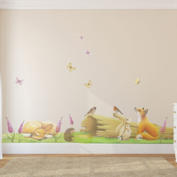 fairy log wall sticker set