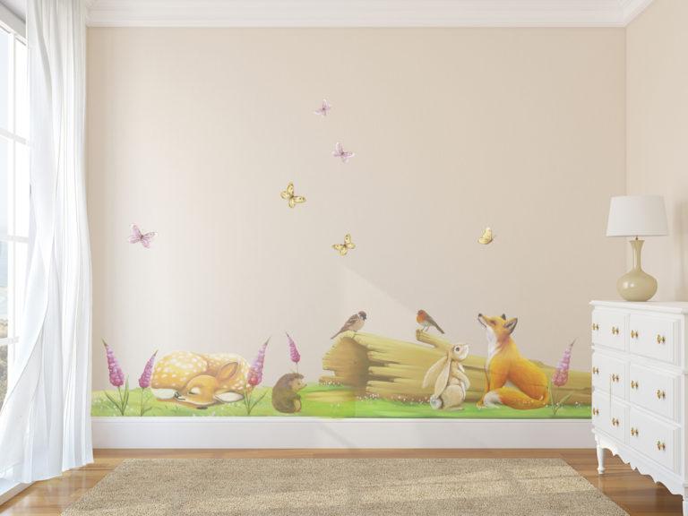 fairy log wall sticker set