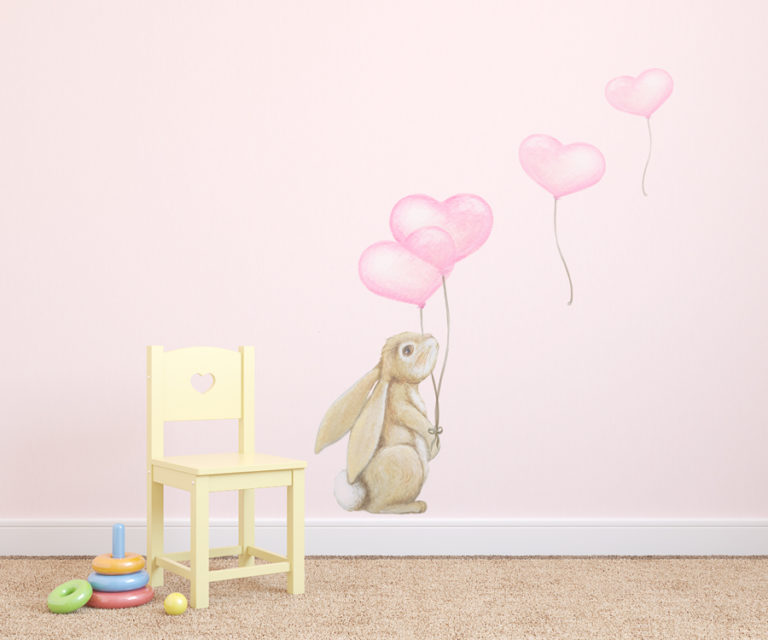 rabbit wall sticker