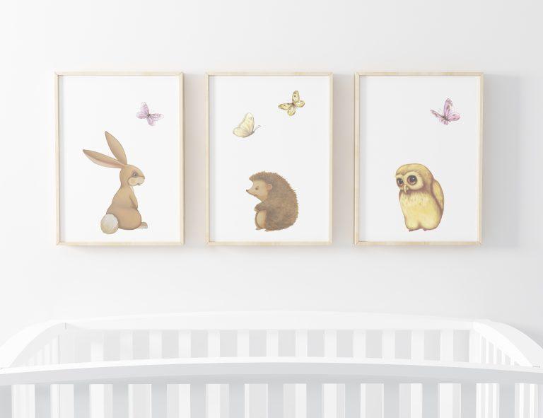 woodland art prints